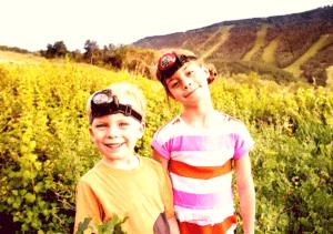 kids wearing headlamps