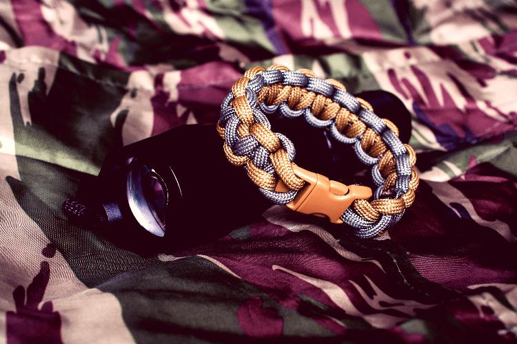 tactical flashlight and bracelet