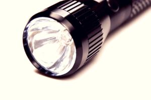 large black flashlight