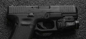 Flashlight with laser for glock